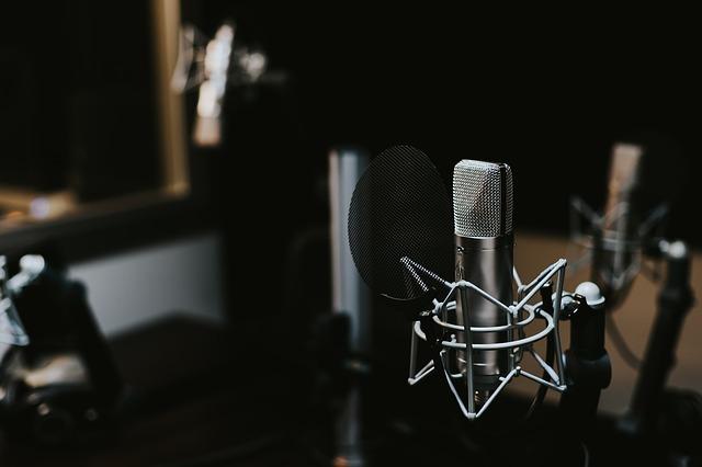 stojan s mikrofonem