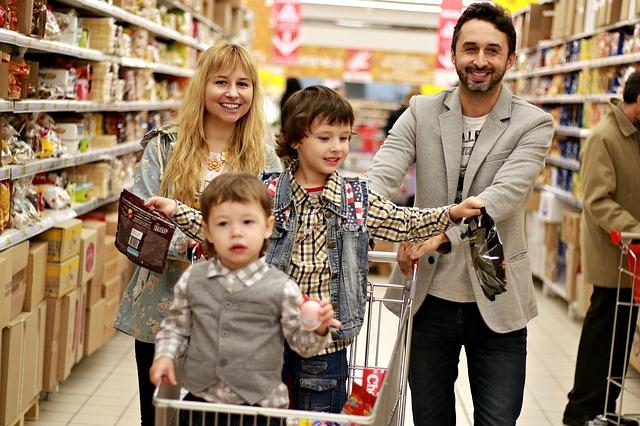 Rodiče, děti, obchod